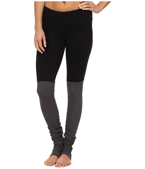 Alo Leggings - Black/ Stormy Heather