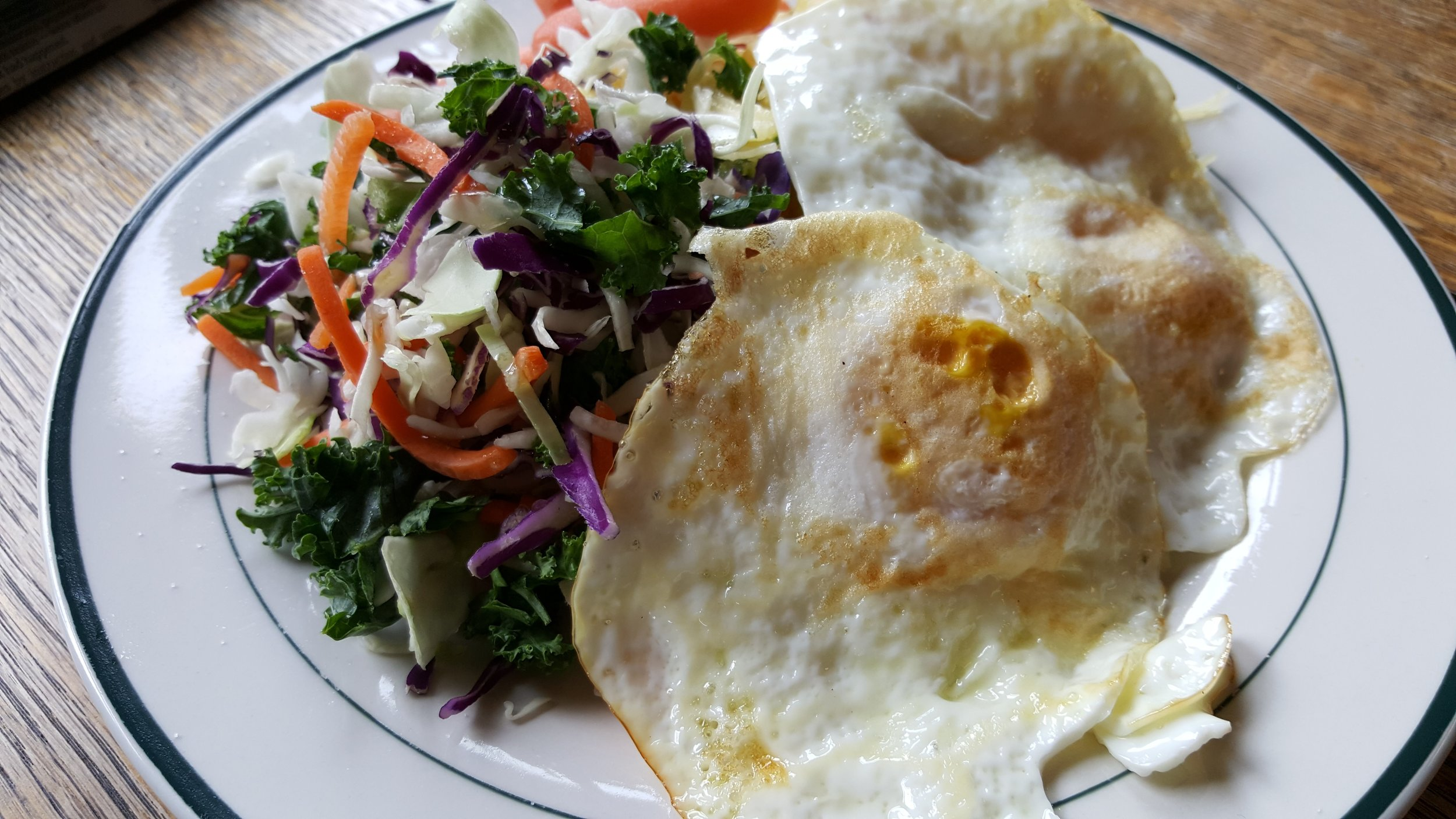 kale and egg salad