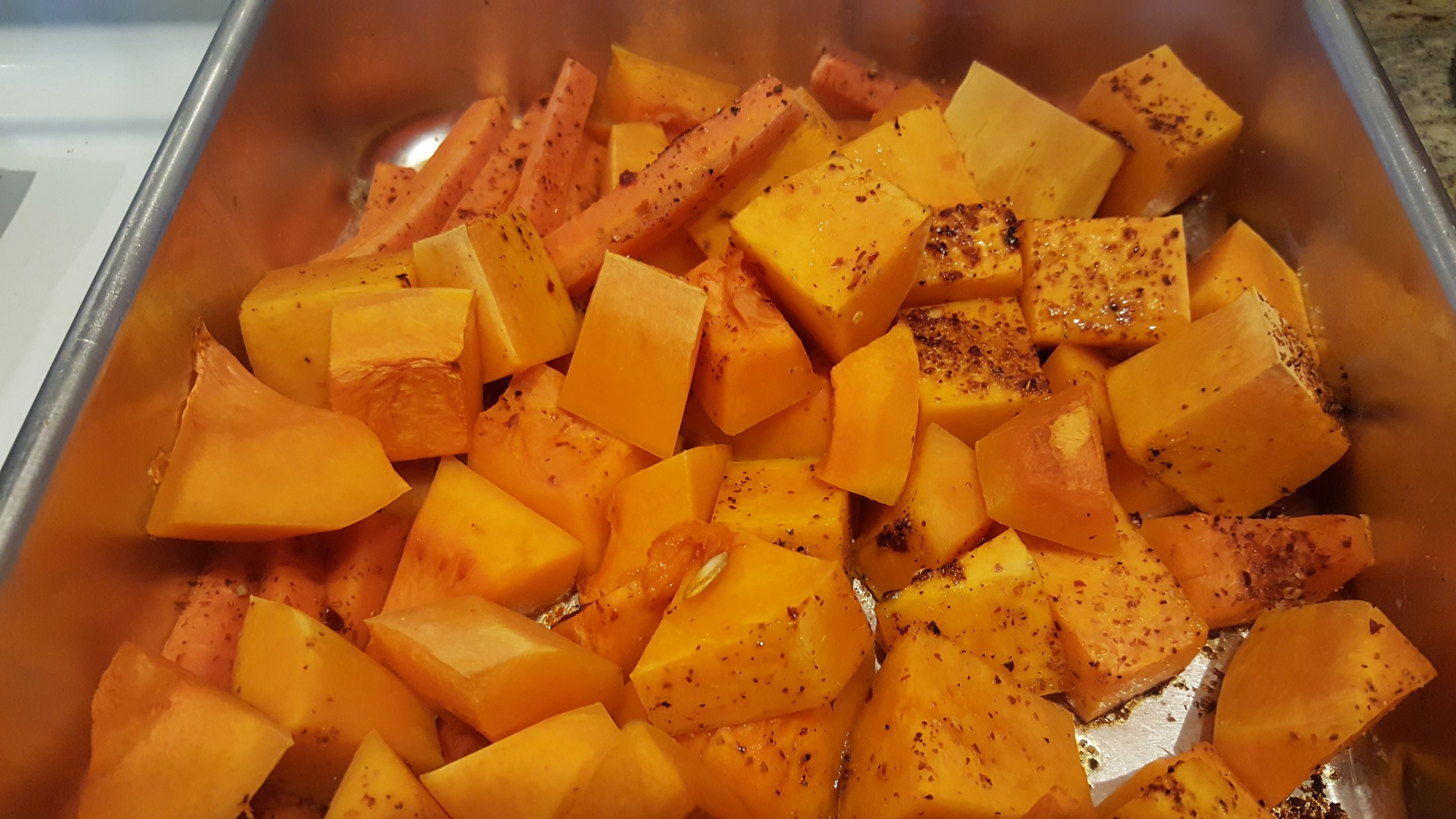 Lots of roasted butternut squash