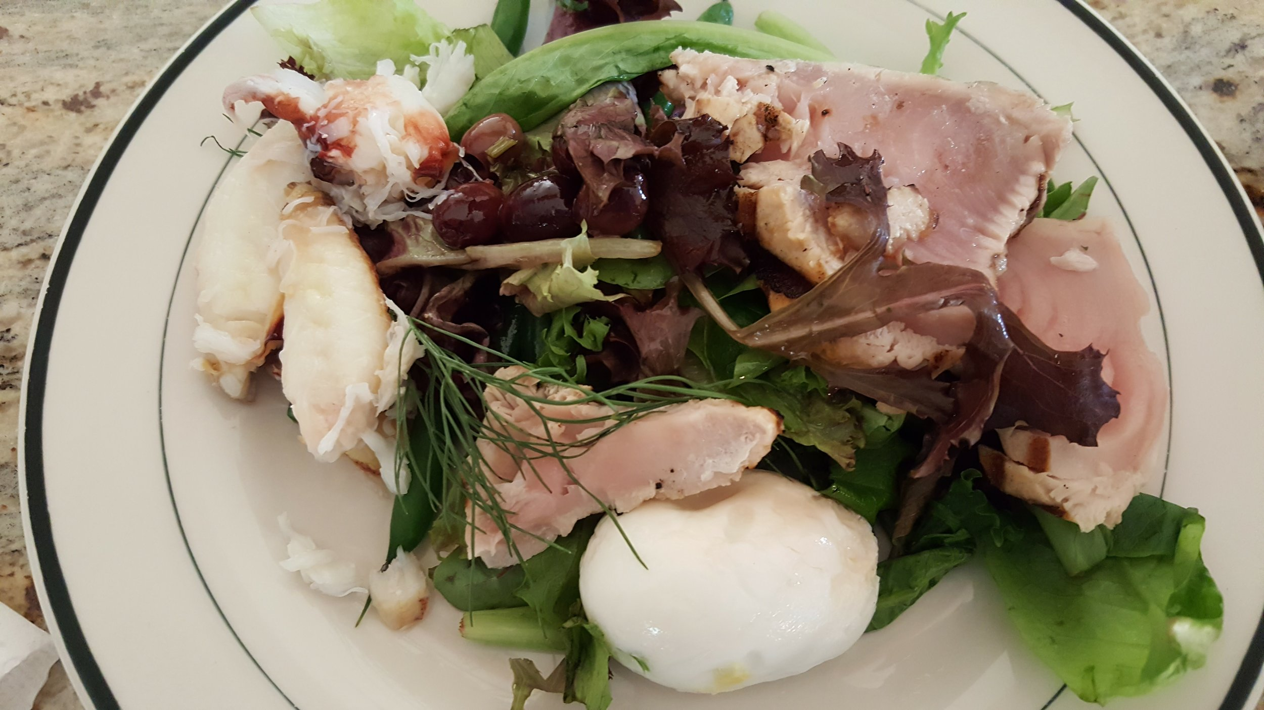 Brought lunch home from Local Ocean seafoods - one of my favorite dishes - Nicoise salad