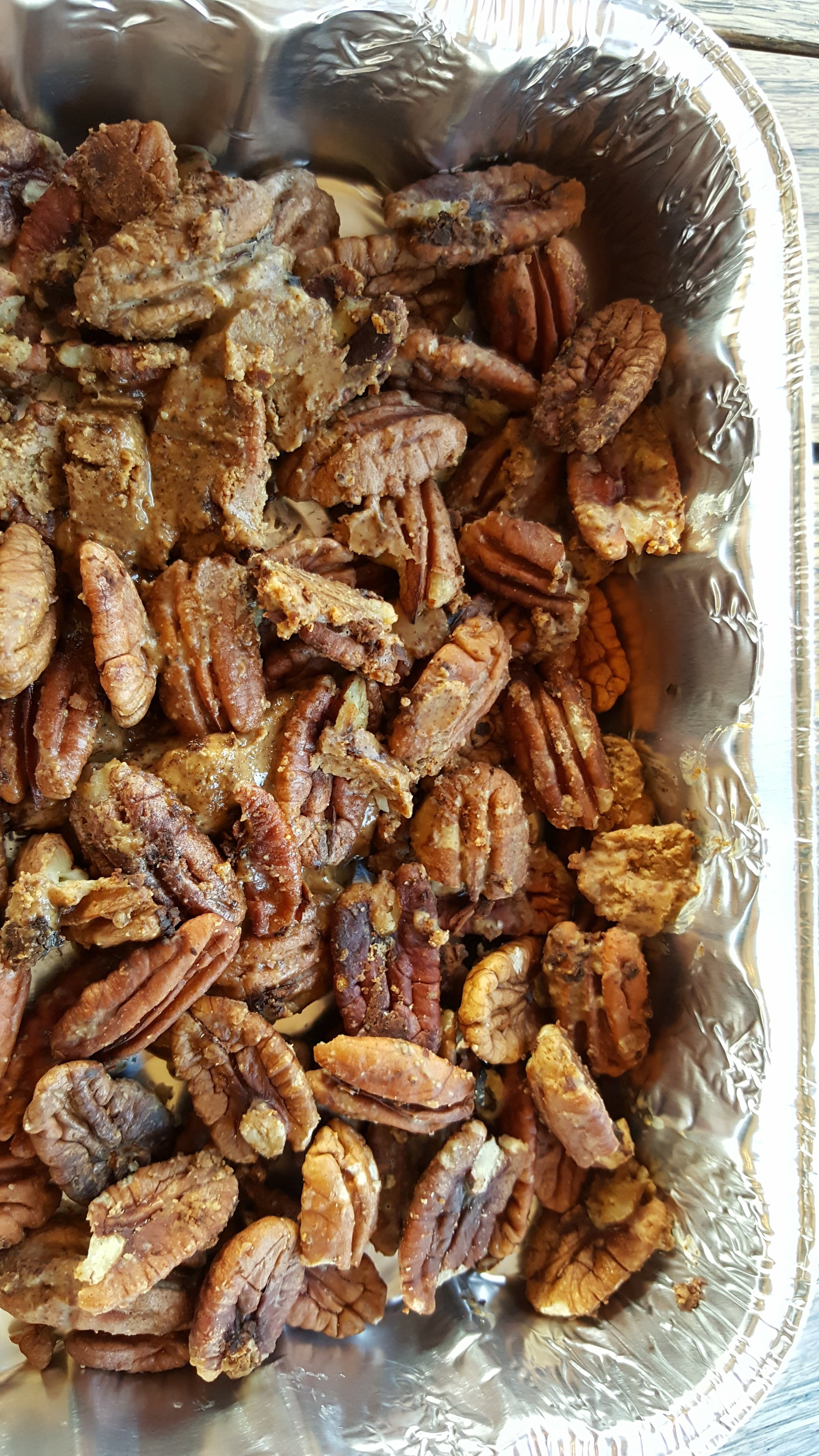 """Pecandy"" - roasted pecans and almond butter, frozen"