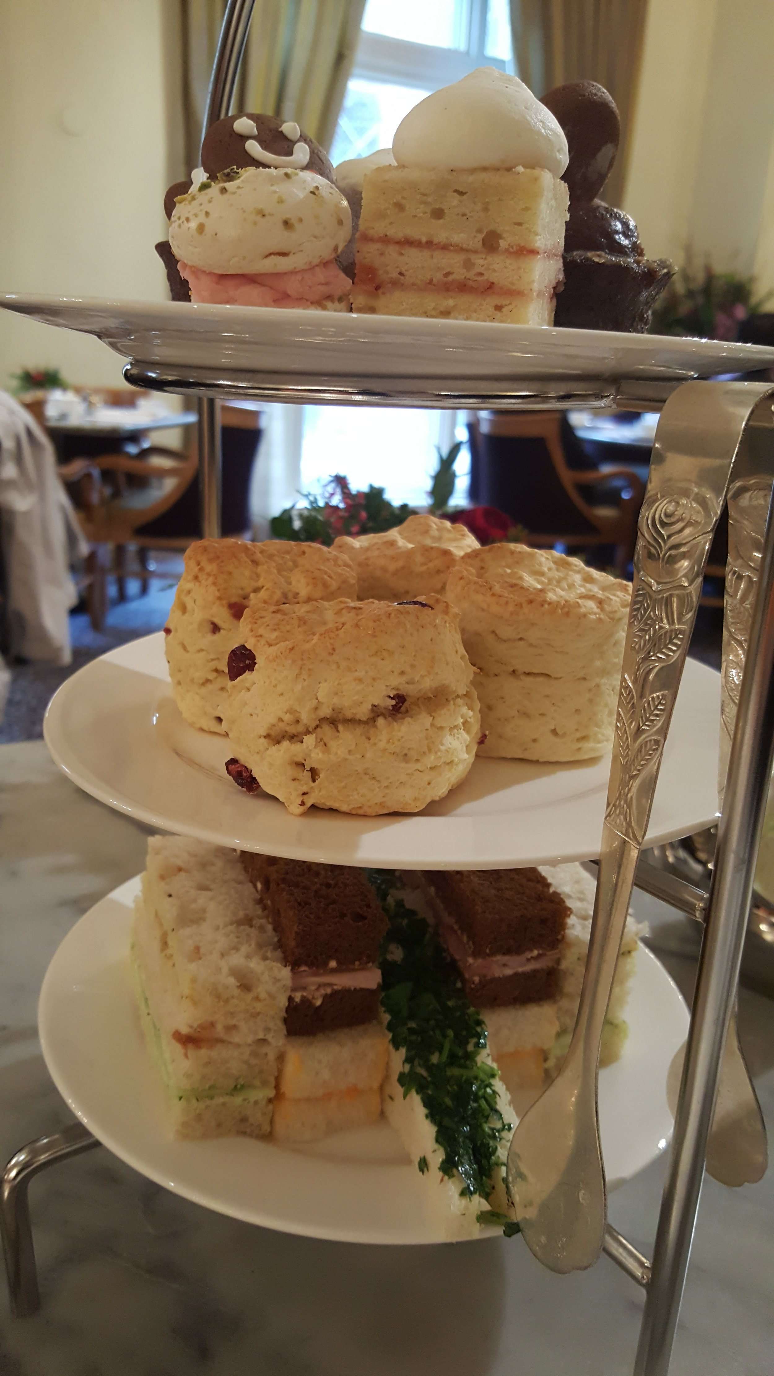 The tower of deliciousness served at Afternoon Tea.