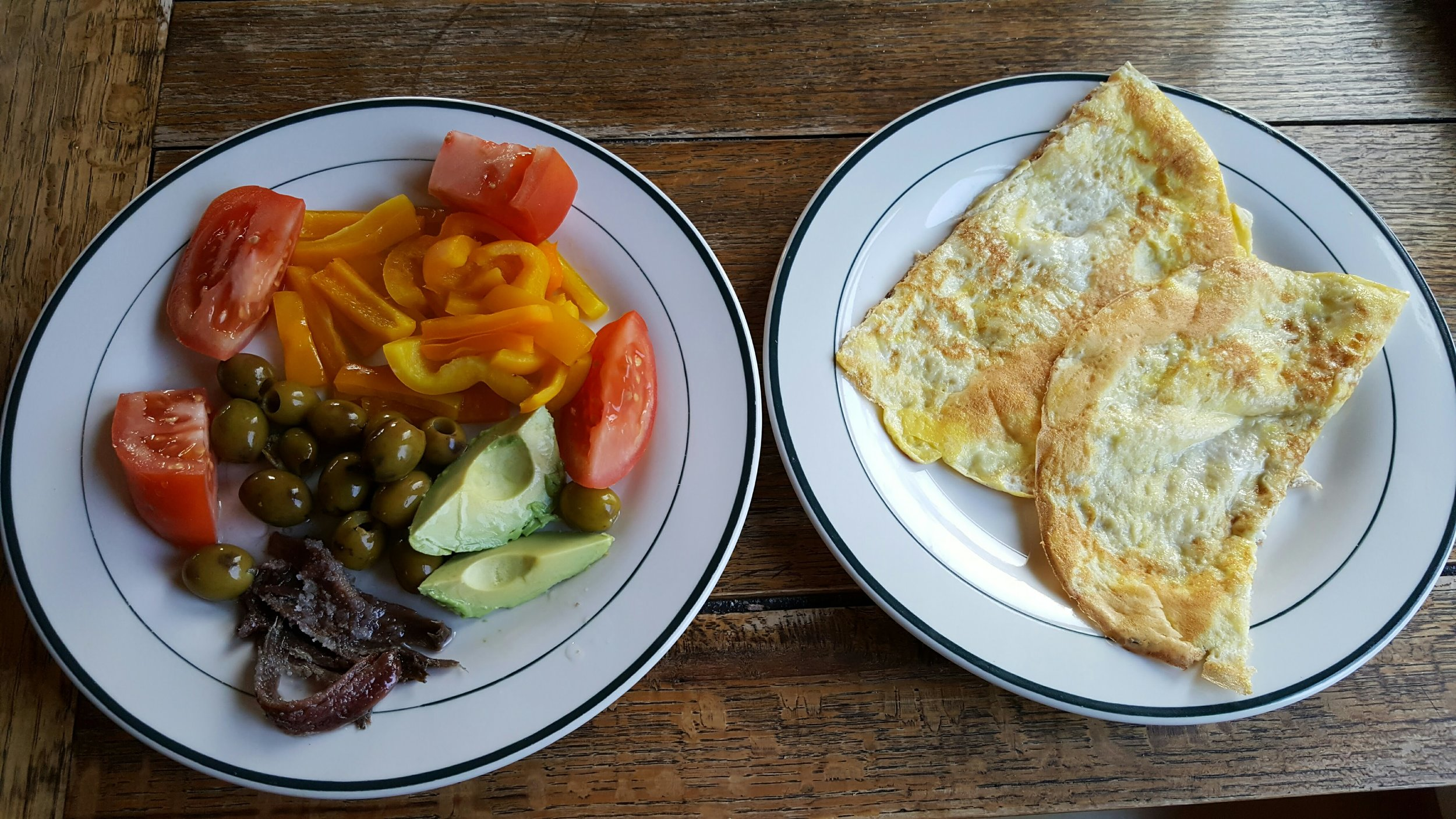 I use these omelettes to wrap the fixins like a burrito.