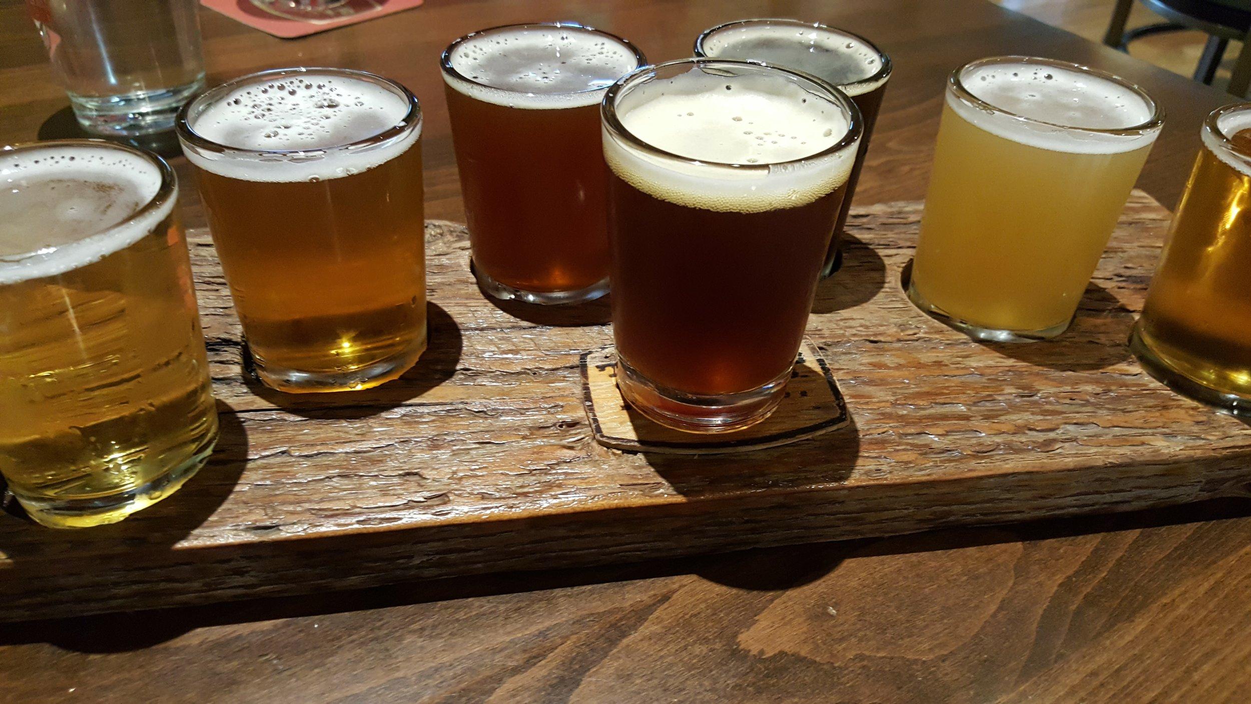 Three Creeks Brewery serves up a variety of beers!