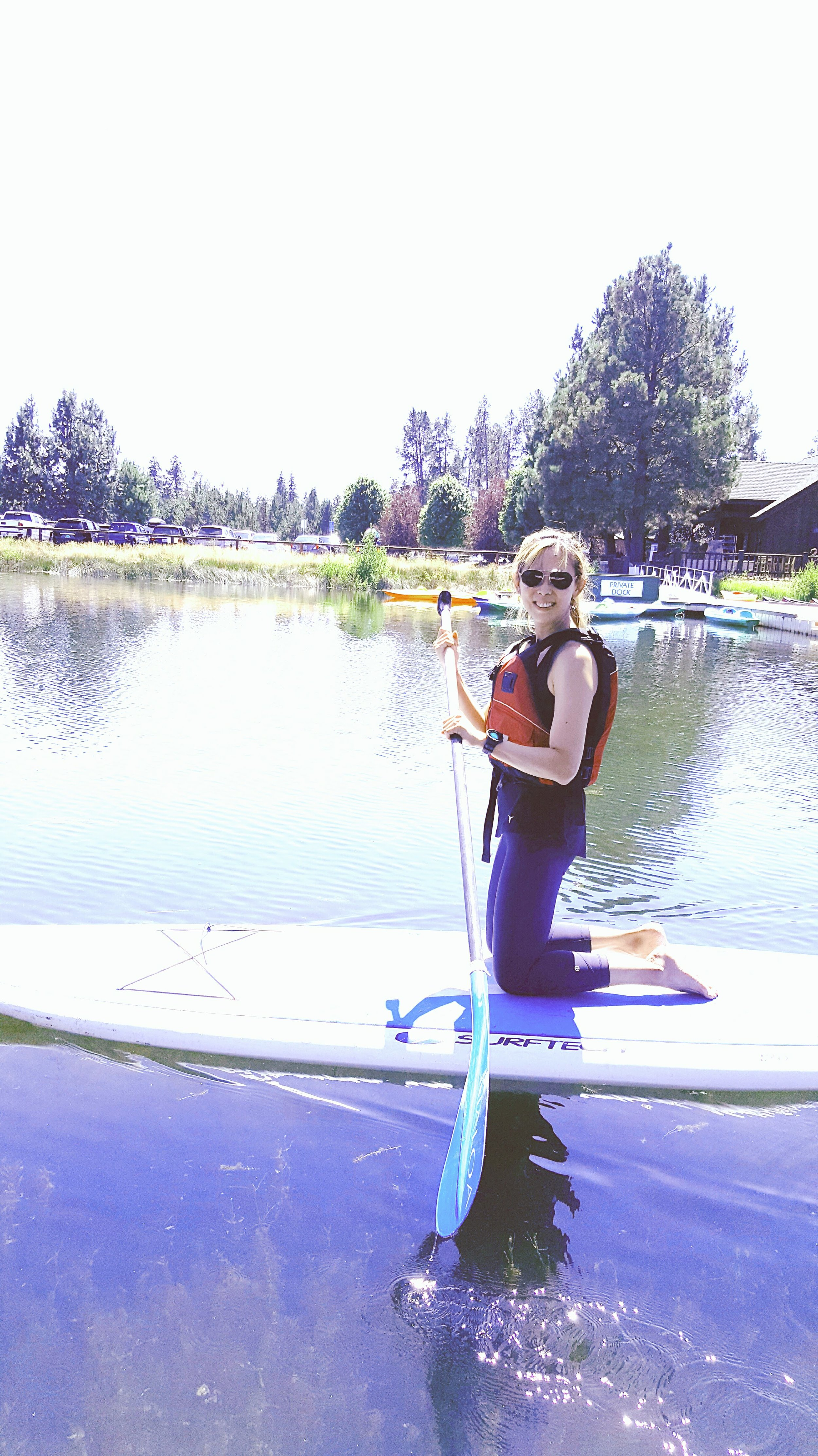 SUP-ing at Sunriver - finding balance is important both in life and on the paddle board