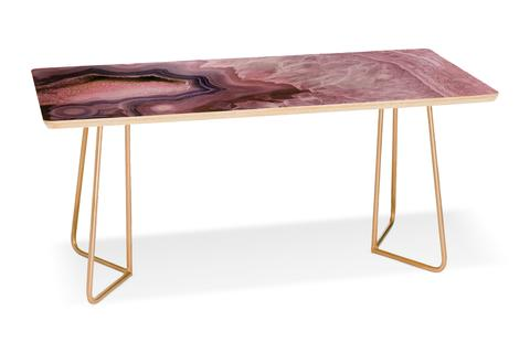 Pale Pink Agate Coffee Table is made in Colorado