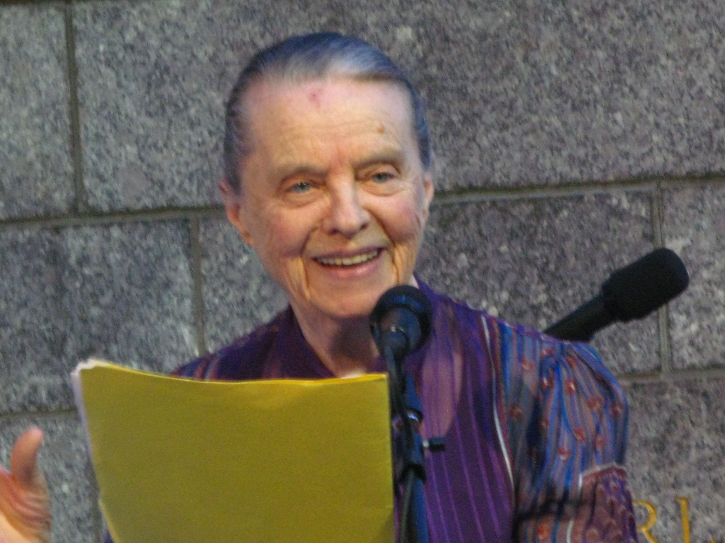 Marie Ponsot in Bryant Park, New York City  April 6, 1921 — July 5, 2019  photo courtesy of Josh Mizrahi