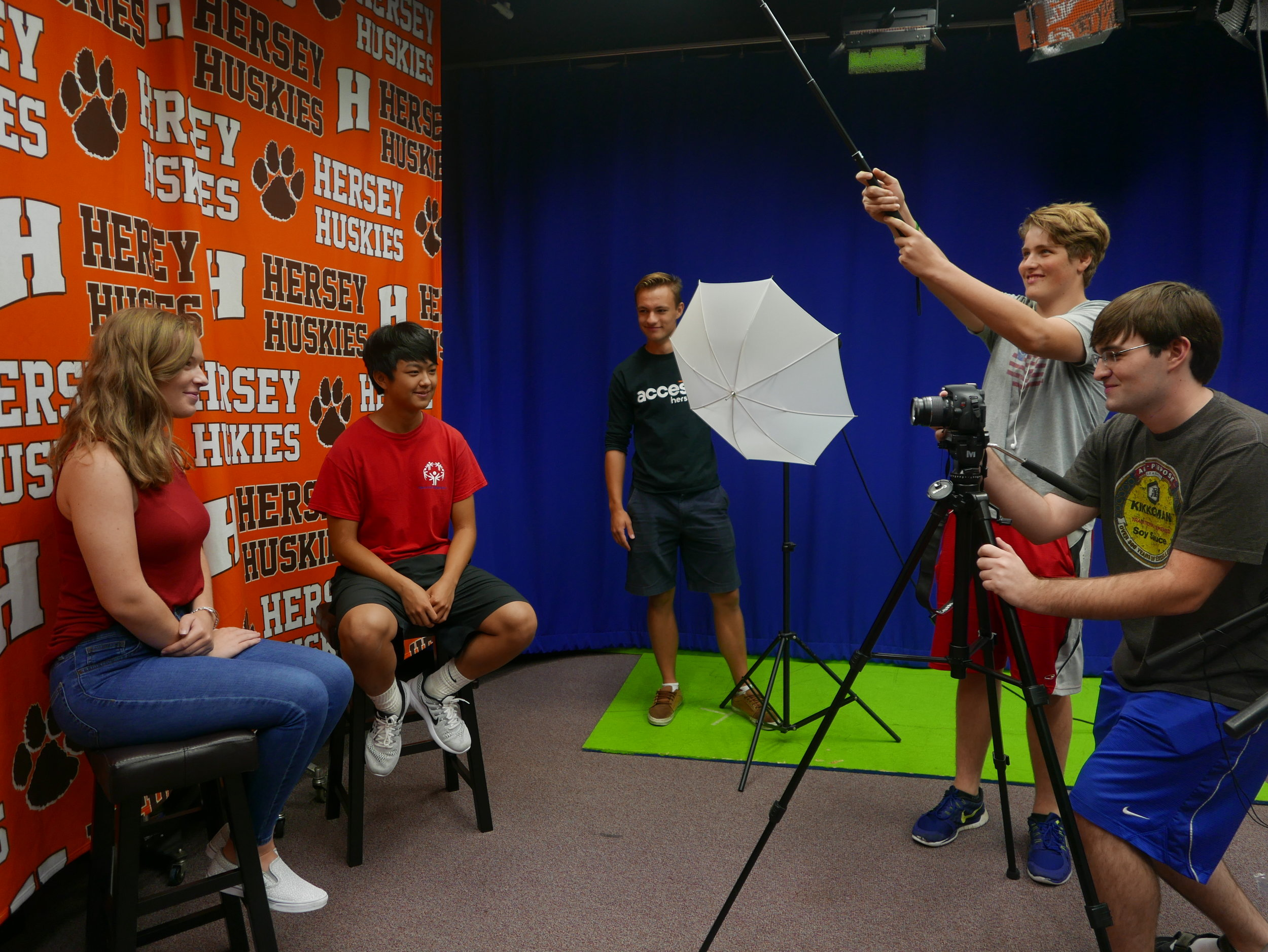 Hersey Media Tech students PArticipated in 74 Industry Experiences last year on top of juggling classwork, morning announcements and live sports broadcasting.