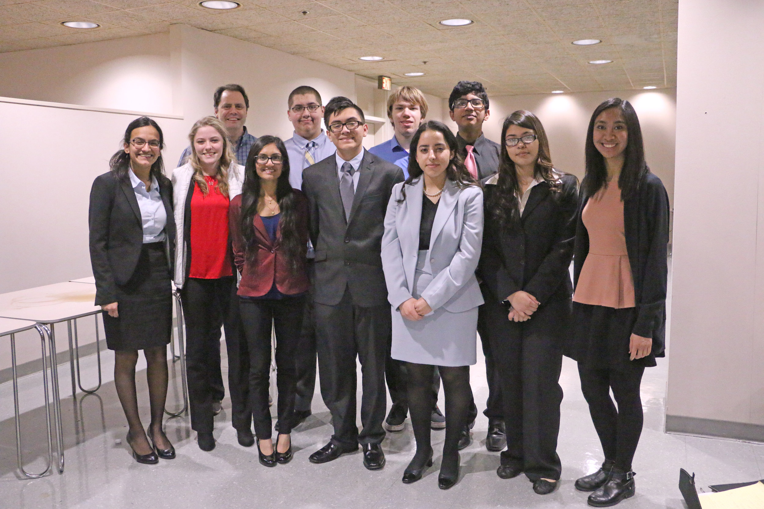 Elk Grove High School participated in the February 2017 mock trial hosted by the Northwest Suburban Bar Association.