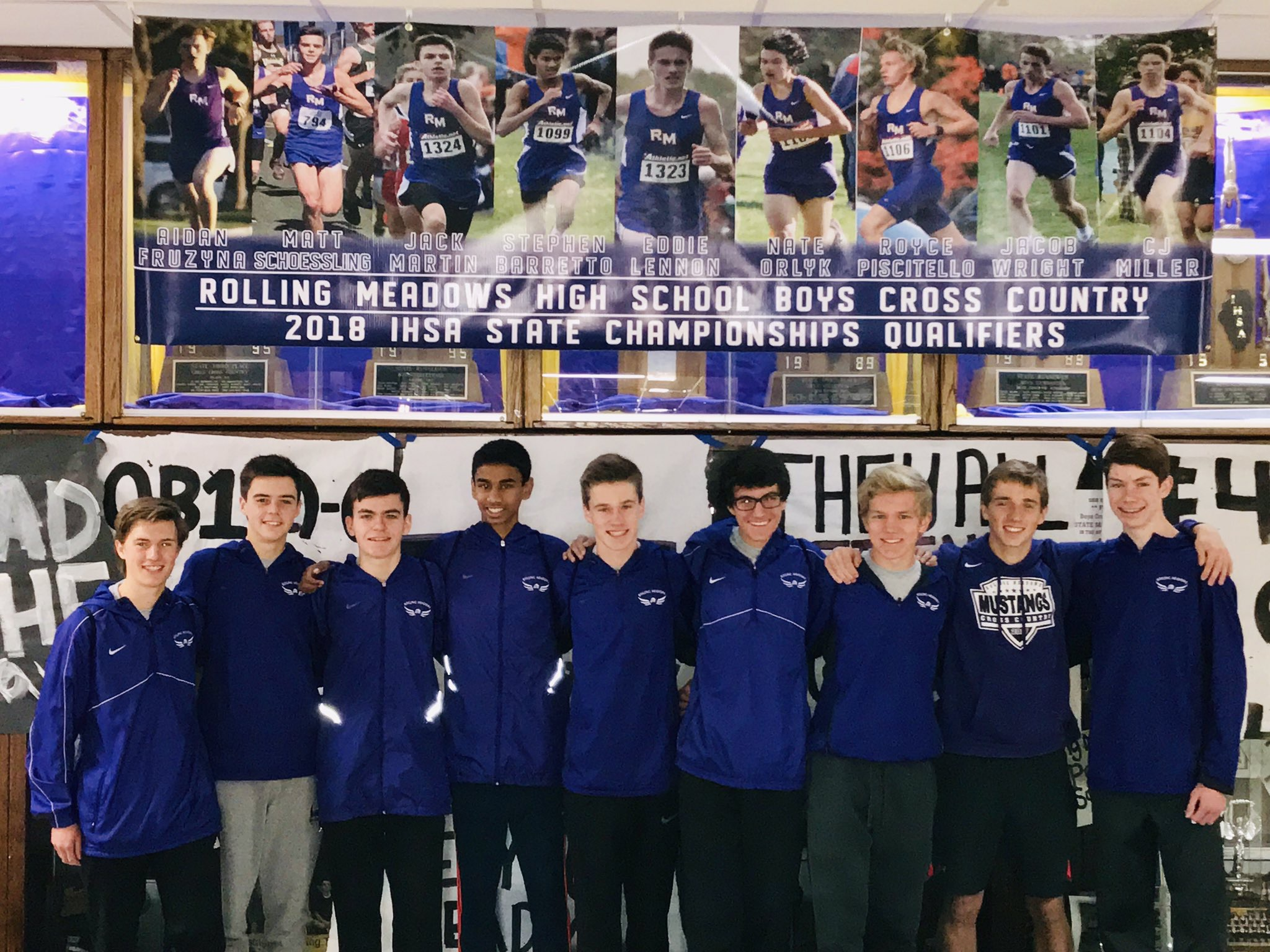 The team at a state send-off at Rolling Meadows High School.