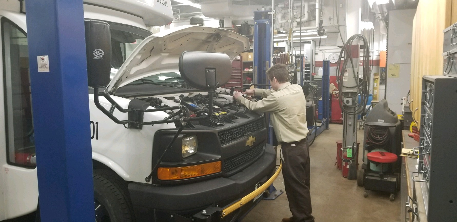 As part of the new Youth Apprenticeship program, District 214 students also have opportunities to gain experience and wages in the automotive and HVAC industries. All apprenticeships are held at District 214.