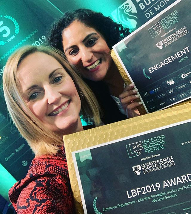 So proud to stand next to this amazing lady as a festival event winner!!! . . Puja @eatpos we will meet for a 'coffee' soon! . . @leicesterbusinessfestival #winners #takepart #getinvolved