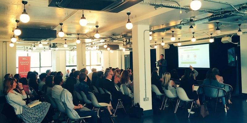 Elliott King presents on Digital Marketing at Google Campus London