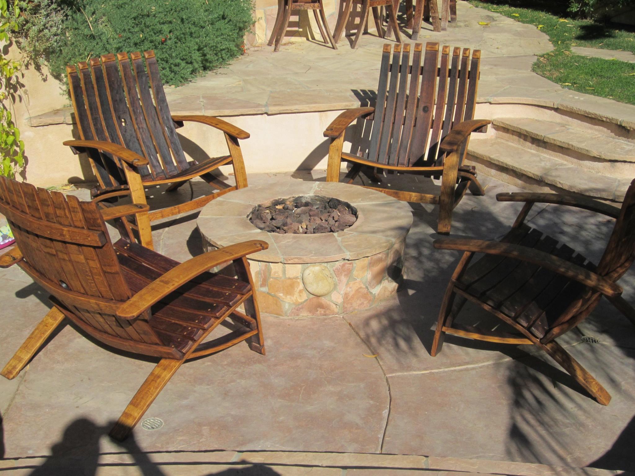 Wine Barrel Outdoor Chairs