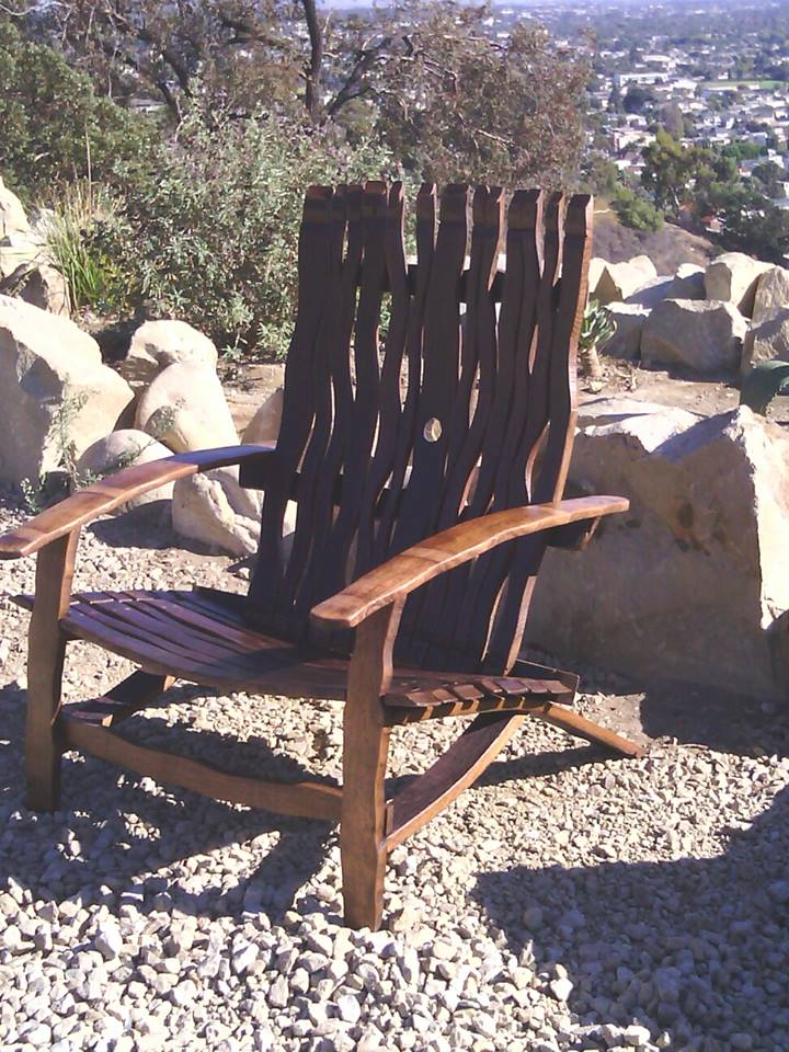 Adirondack Wave Back Beach Chair - Matching Ottoman available