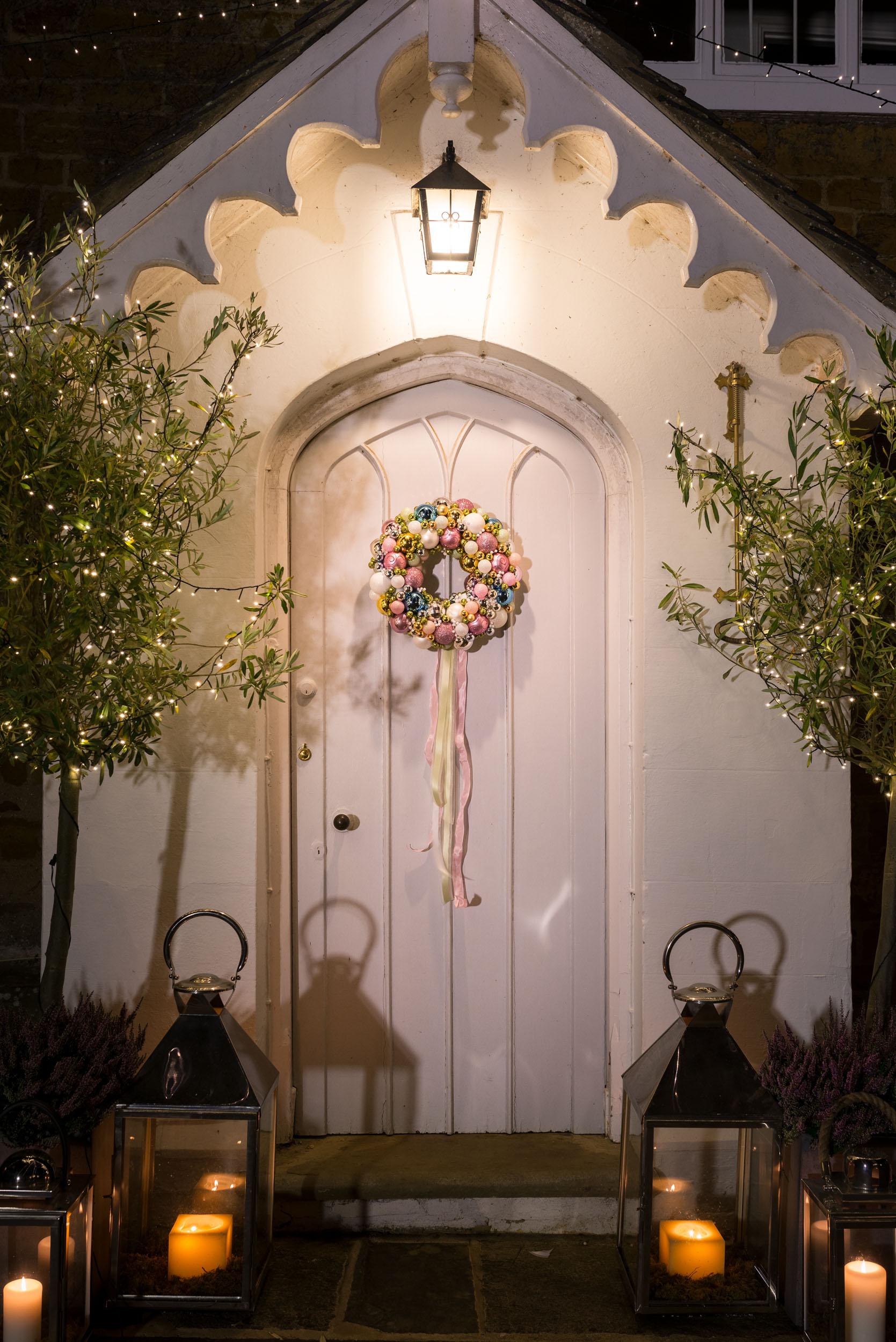 An alternative Christmas wreath