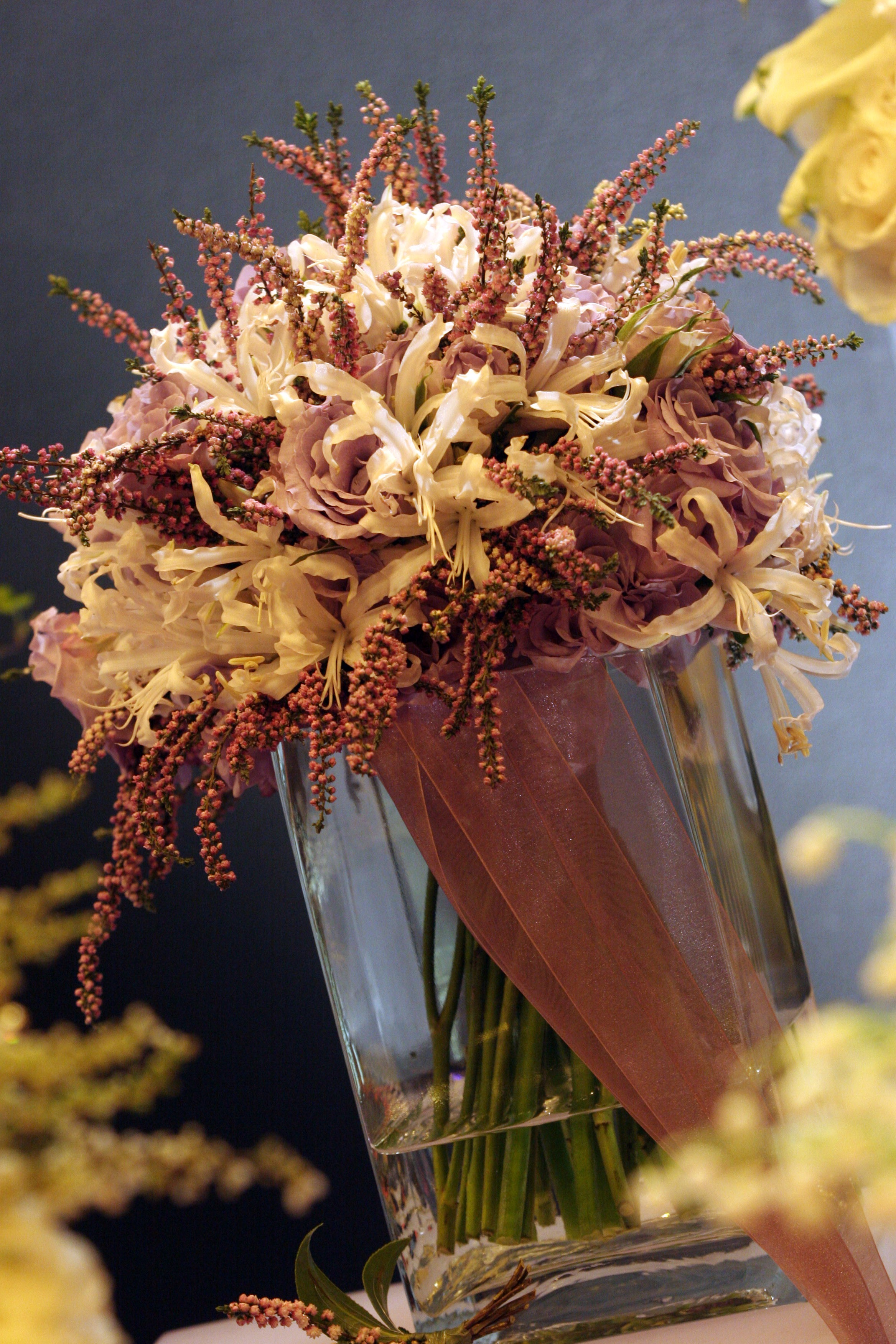 Lilac rose heather and nerine bouquet.jpg