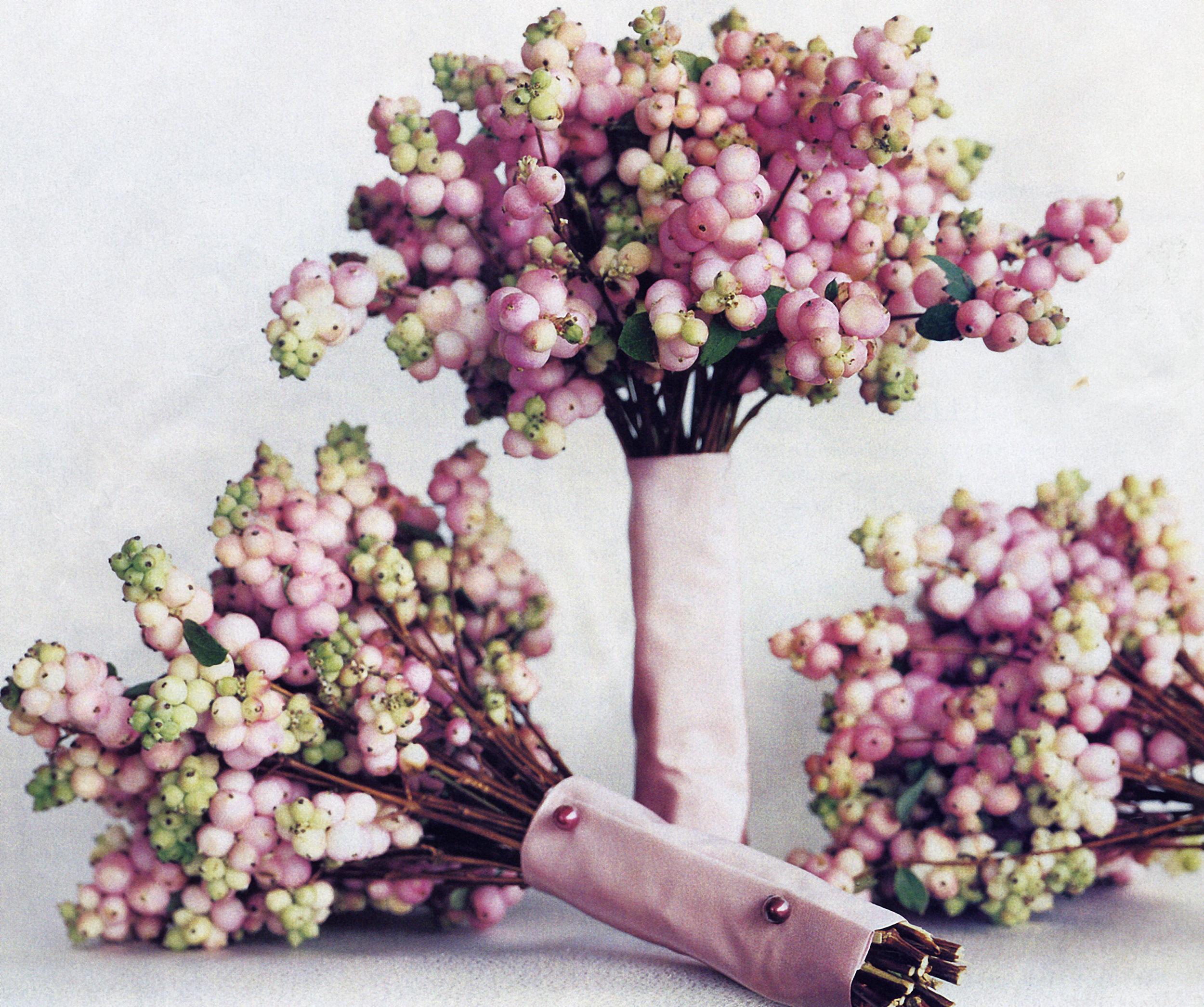 Pink snowberry bouquets.jpg