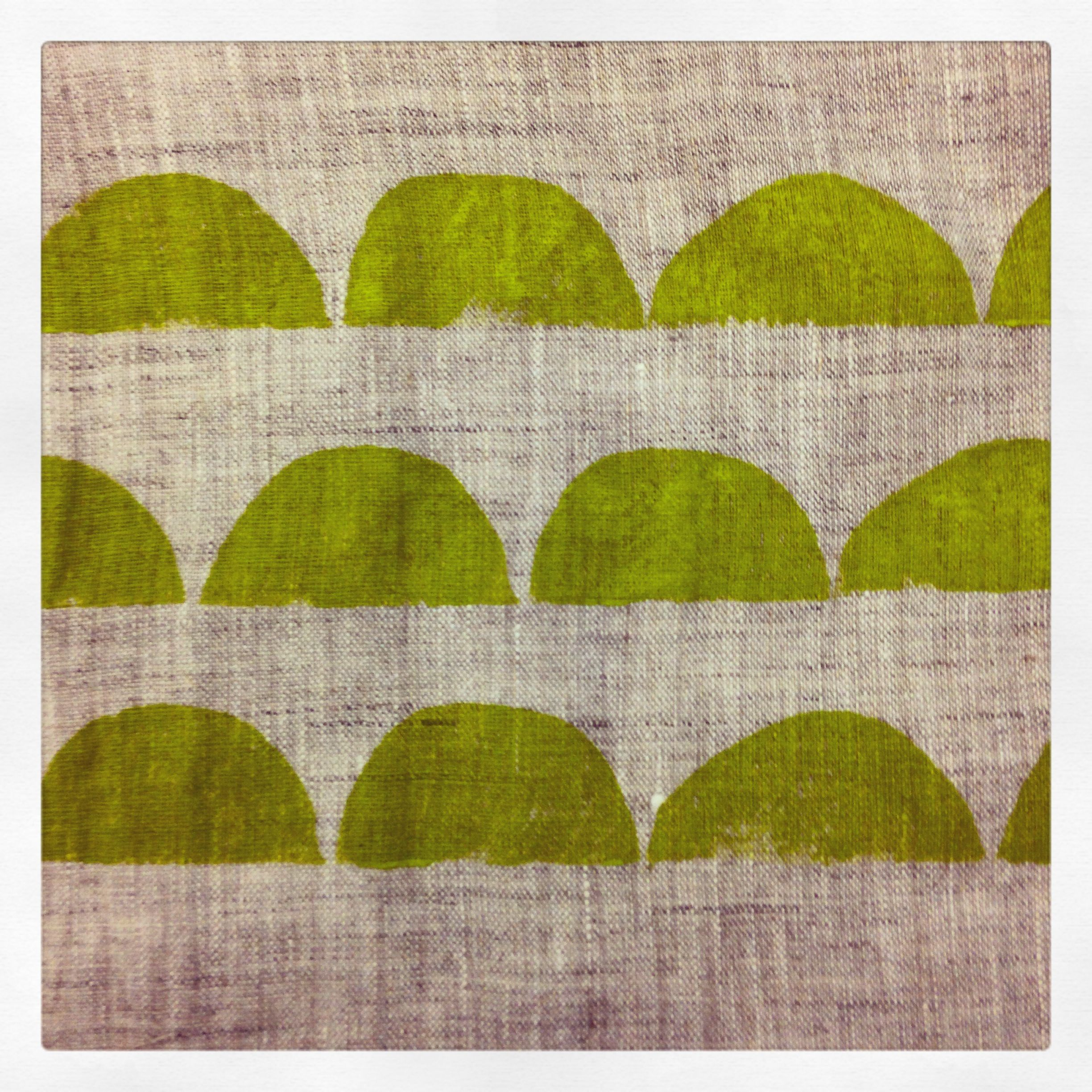 A detail from a block printed linen scarf.