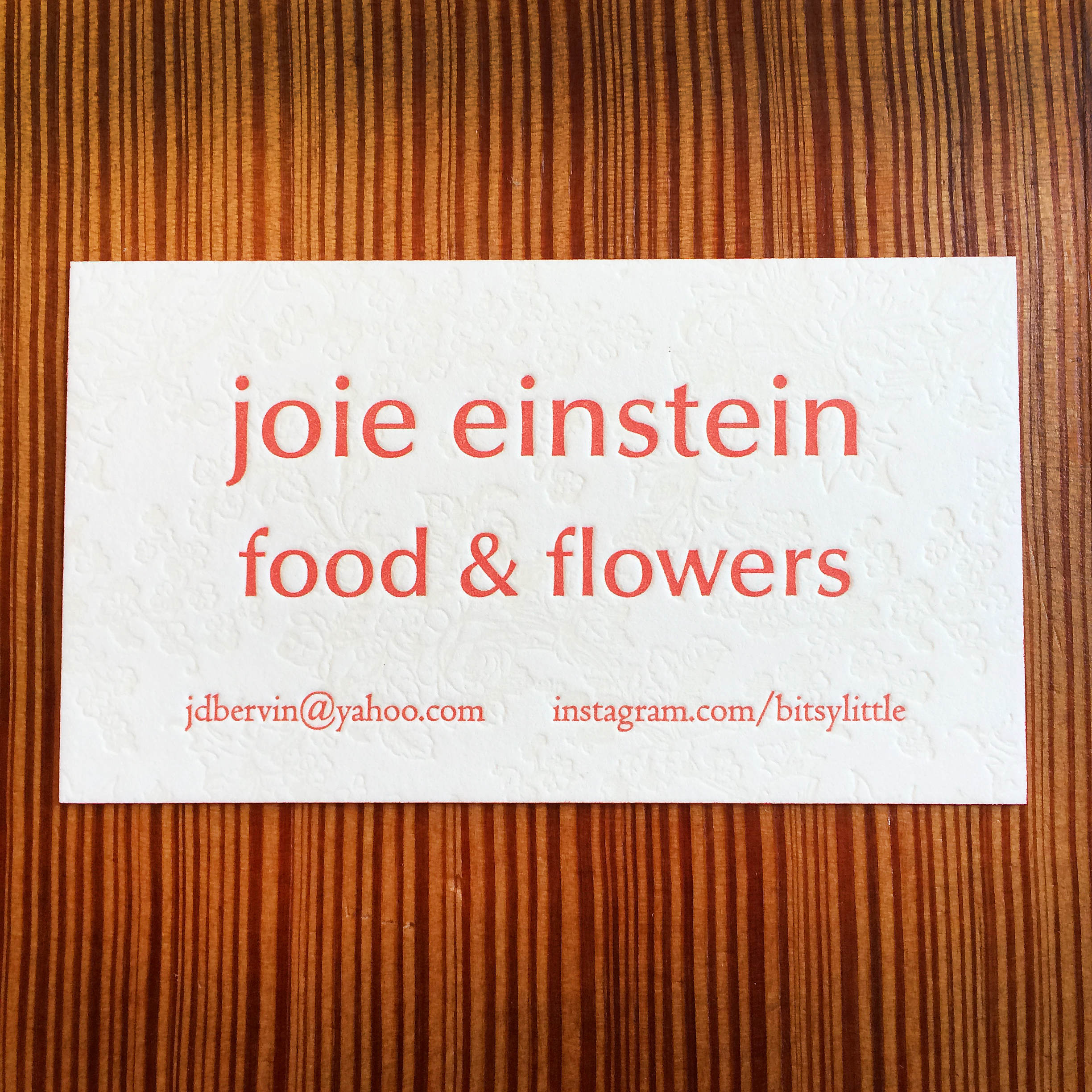 Food and Flowers - Letterpress Business Card.jpg