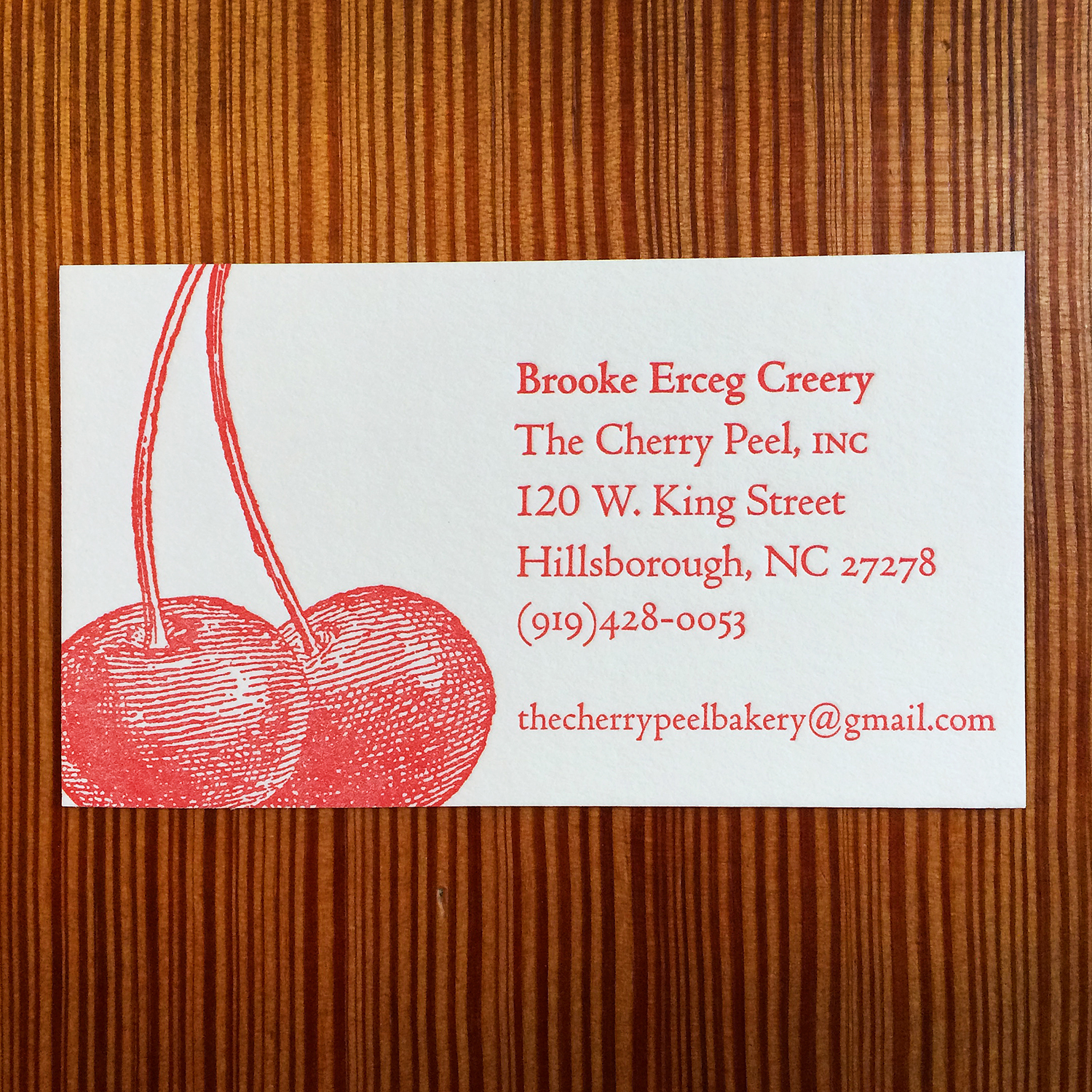 Cherry Peel - Letterpress Business Card.jpg