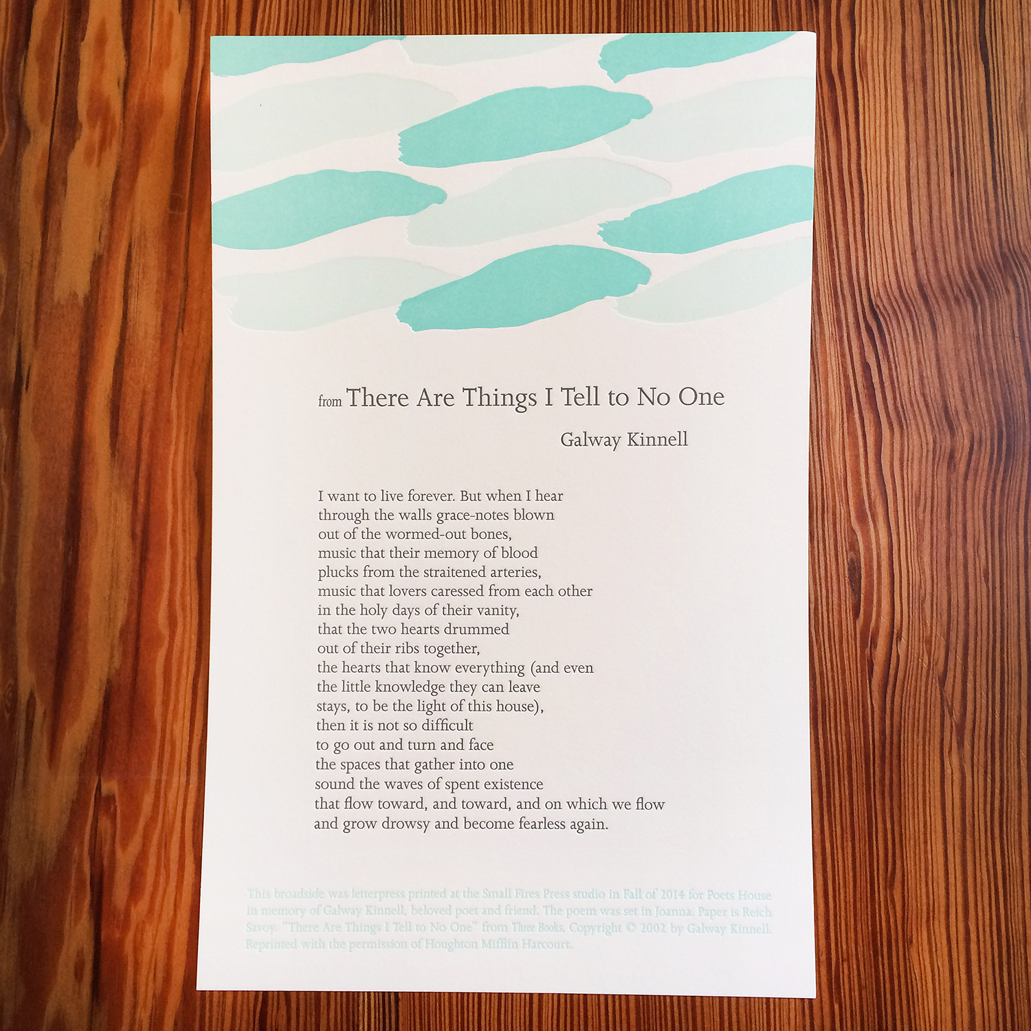 Galway Kinnell - There are Things I Tell to No One - Letterpress - Broadside.jpg