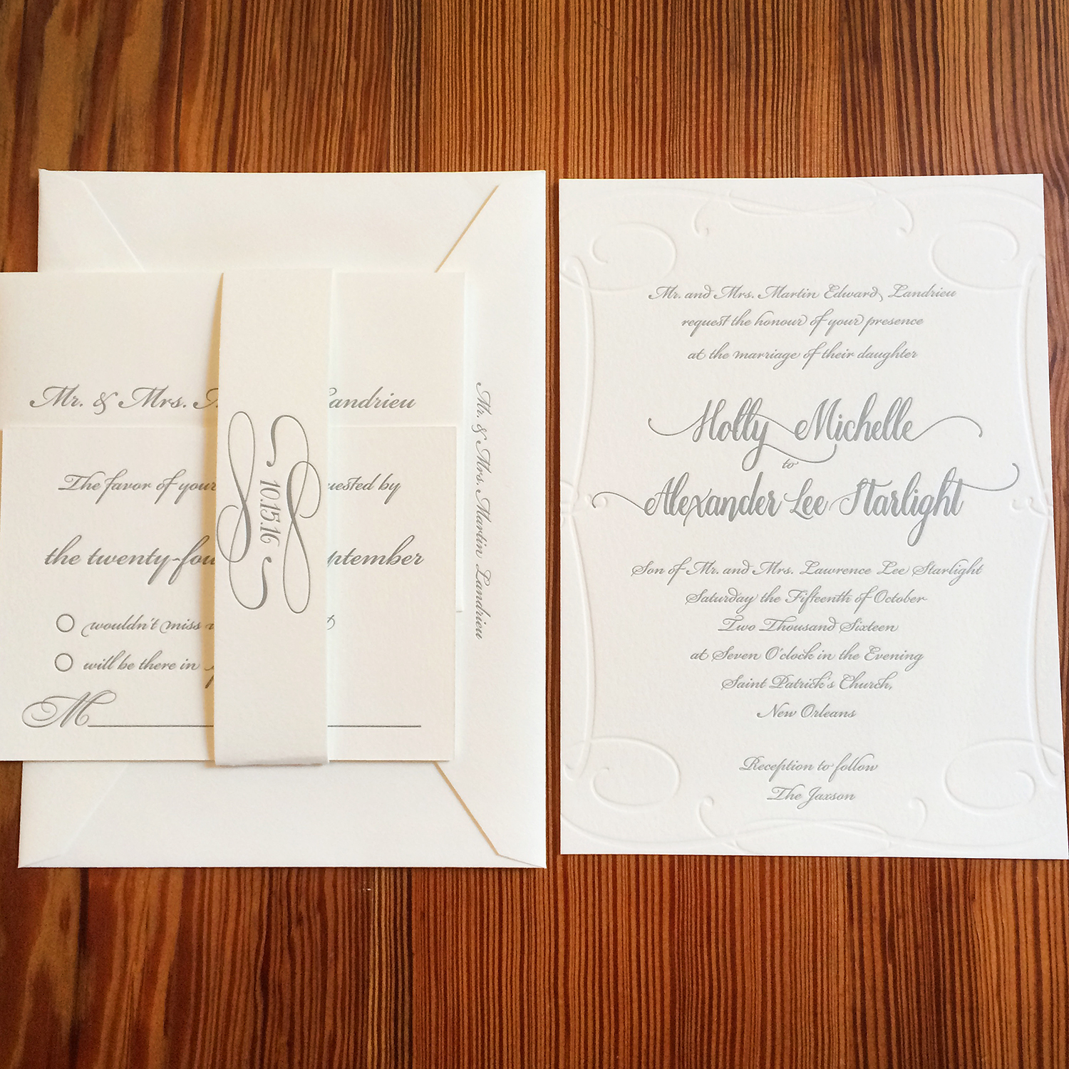 Starlight Wedding Suite Invitation Blind Stamp Belly Band.jpg