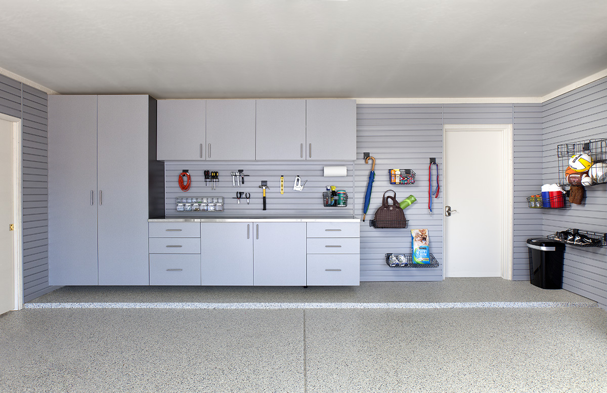 Silver Cabinets-Stainless Counter-Grey Slatwall Grab-n-Go-Barker 2012.jpg