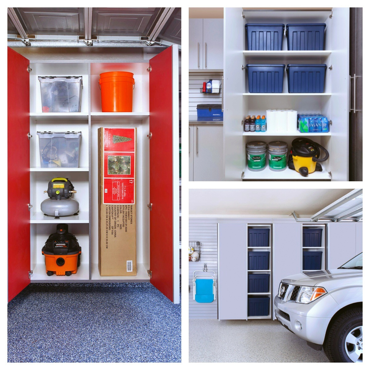 If space permits, use storage boxes on garage shelving to store off-season clothes. If your garage is overflowing, we can help with that, too! Call Closets of Tulsa for garage storage ideas.