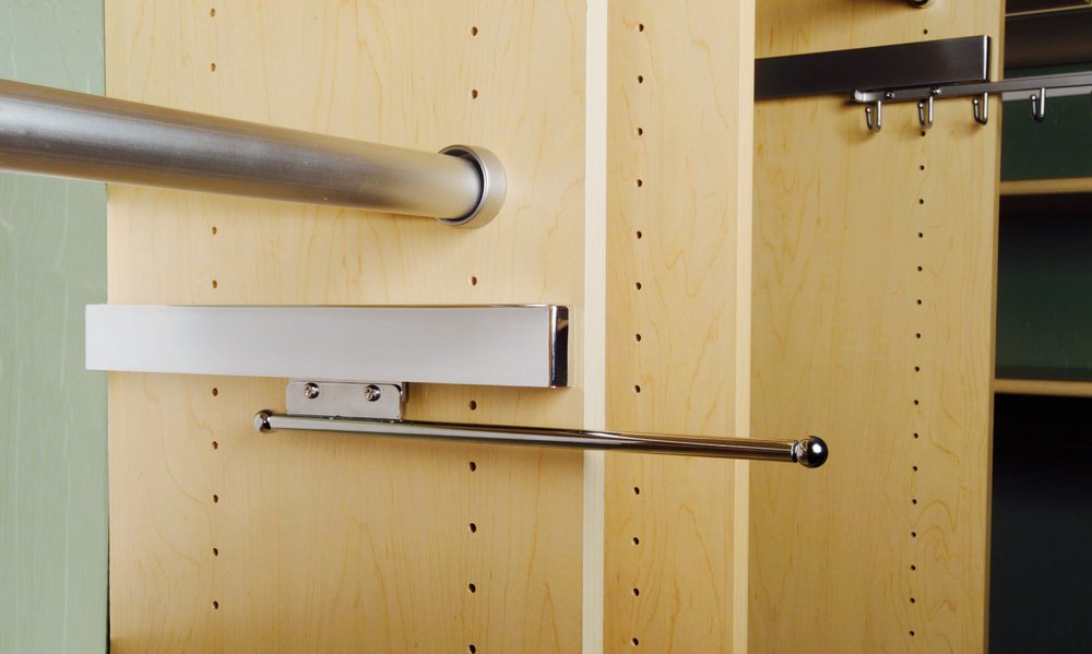 Details like the closet valet rod make the difference between a custom closet you love and one that simply holds your stuff. Call Closets of Tulsa today to see what's possible: 918.609.0214