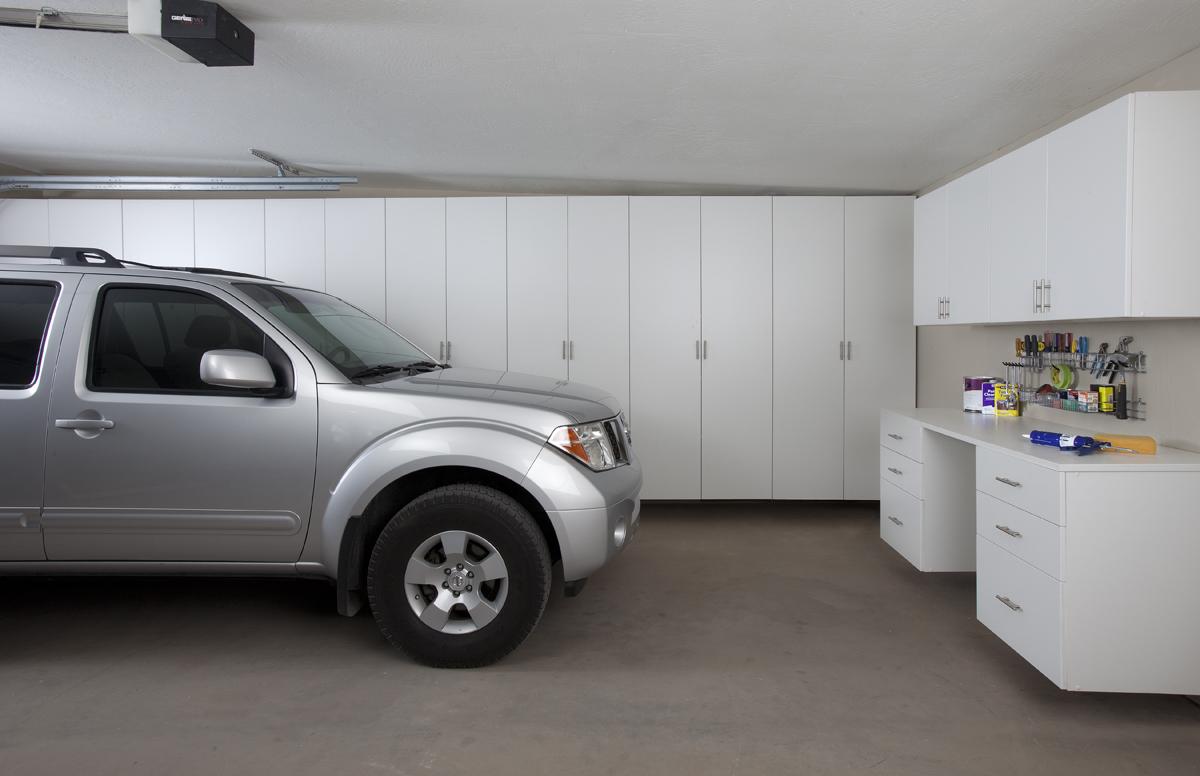 White Garage Cabinets