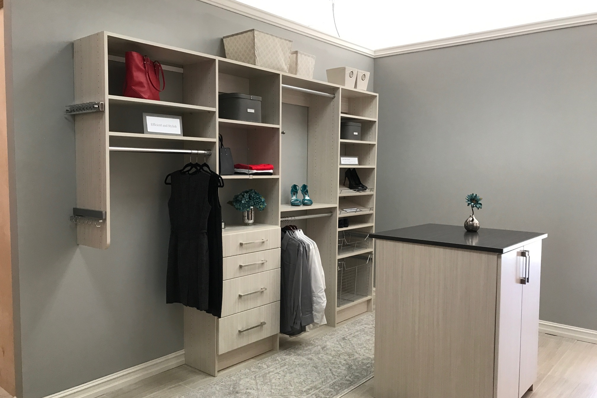 Closets of Tulsa's floor model closet sample is available to view by appointment.