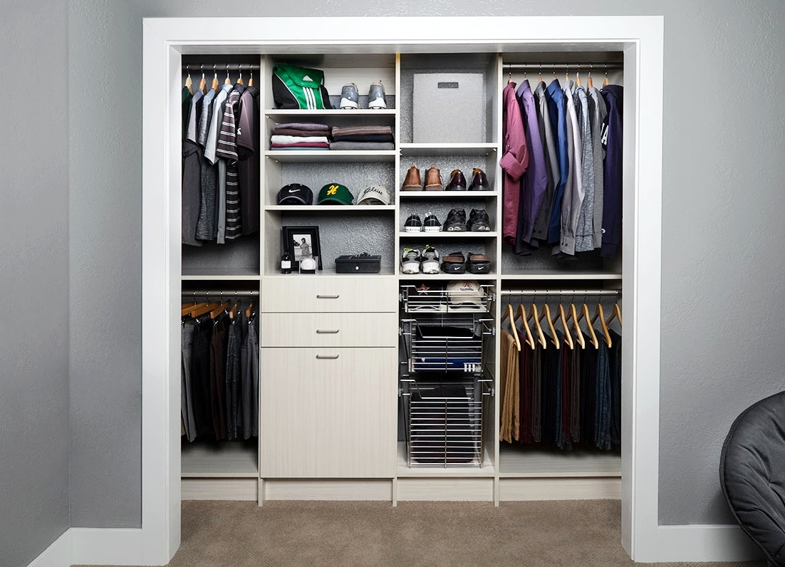 Even small closets can be luxurious. Make every detail count with custom options like soft close drawer slides.  Call Closets of Tulsa  today for a FREE consultation and 3-D closet design:  918.609.0214