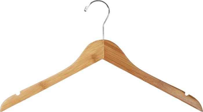 Bamboo clothes hangers are an excellent sustainable alternative. Get 15% off a variety of bamboo hangers and free shipping at  Hangers.com  with promo code TULSA.