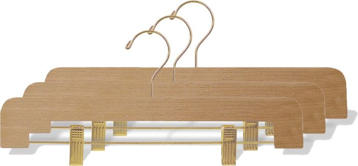 These natural wood and brass hangers are a beautiful option for style and function. Get 15% off hangers and free shipping at  Hangers.com  with promo code TULSA.