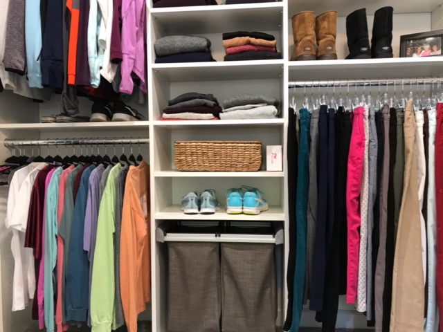 Uncollect the excess so your closet holds only what you actually wear.  Call Closets of Tulsa  today for your FREE consultation and 3-D closet and garage design:  918.609.0214