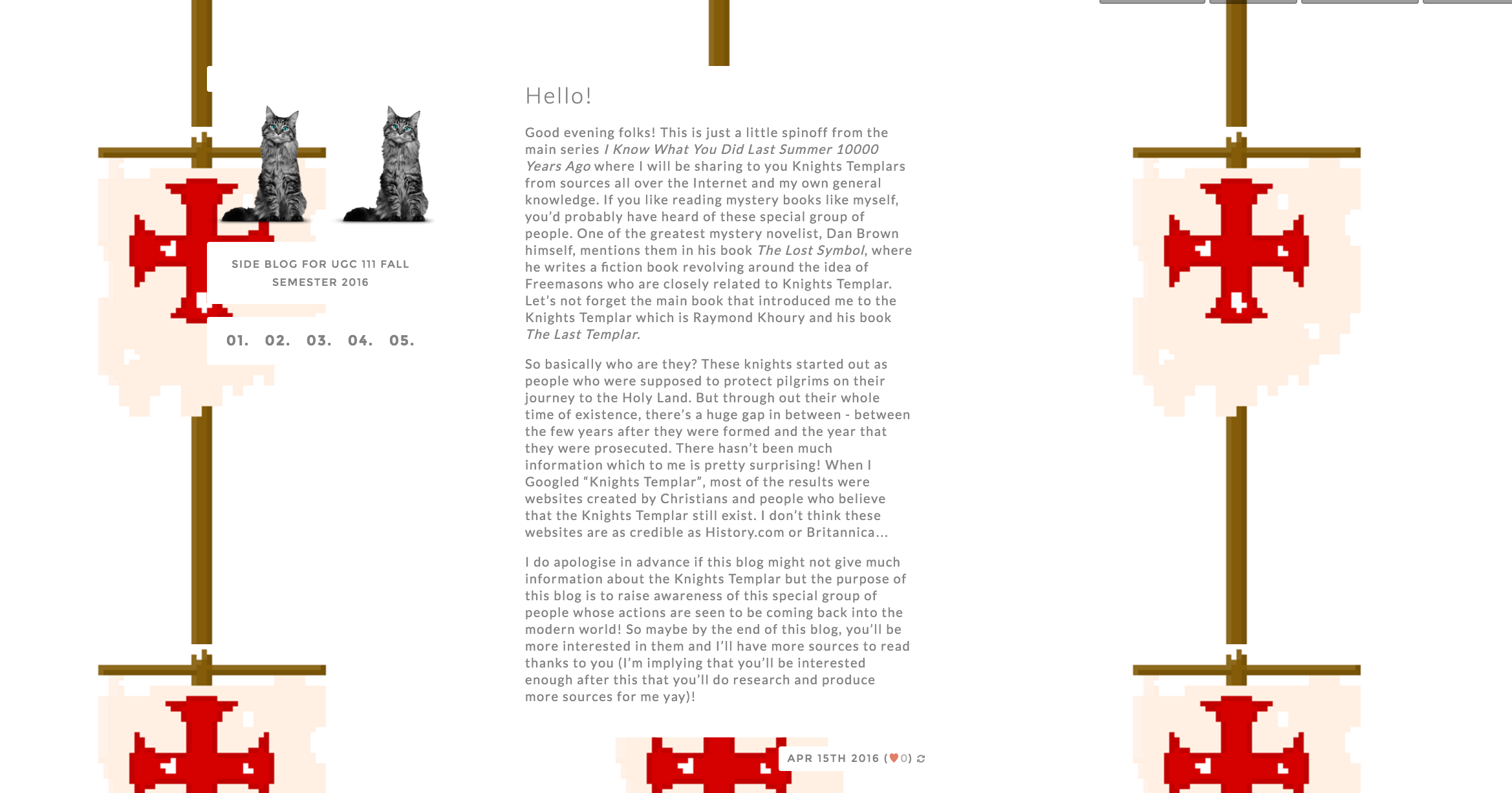Preview of what my blog looks like!