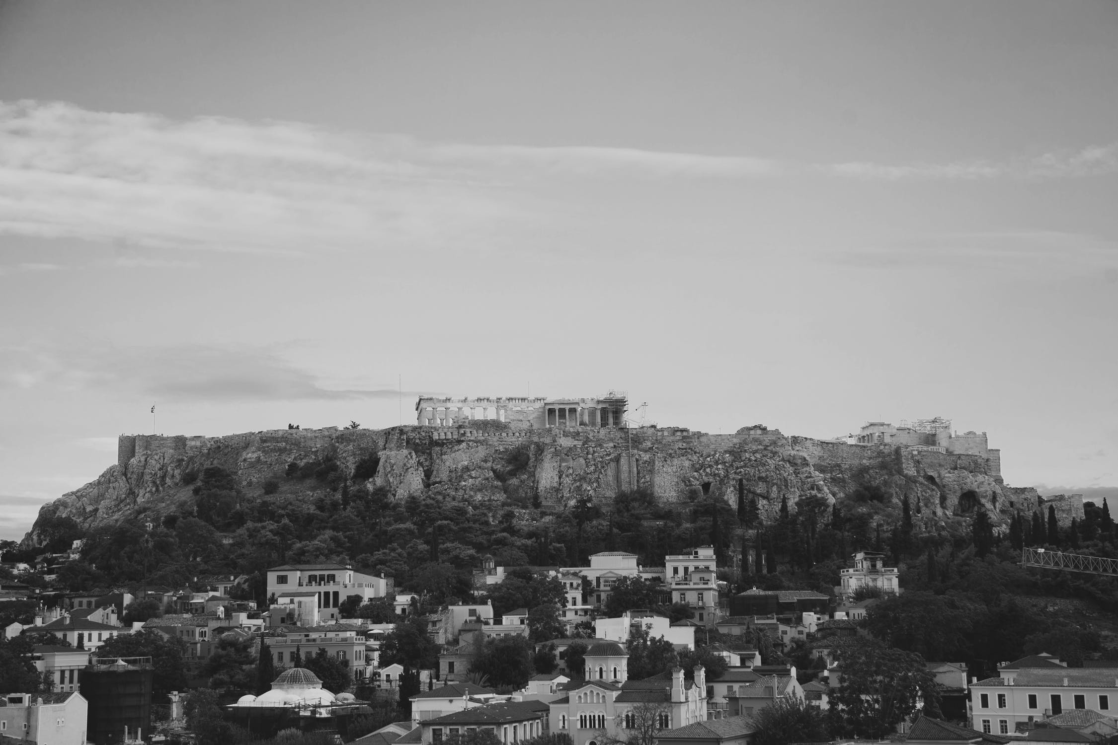 Photo: Greece in Grayscale