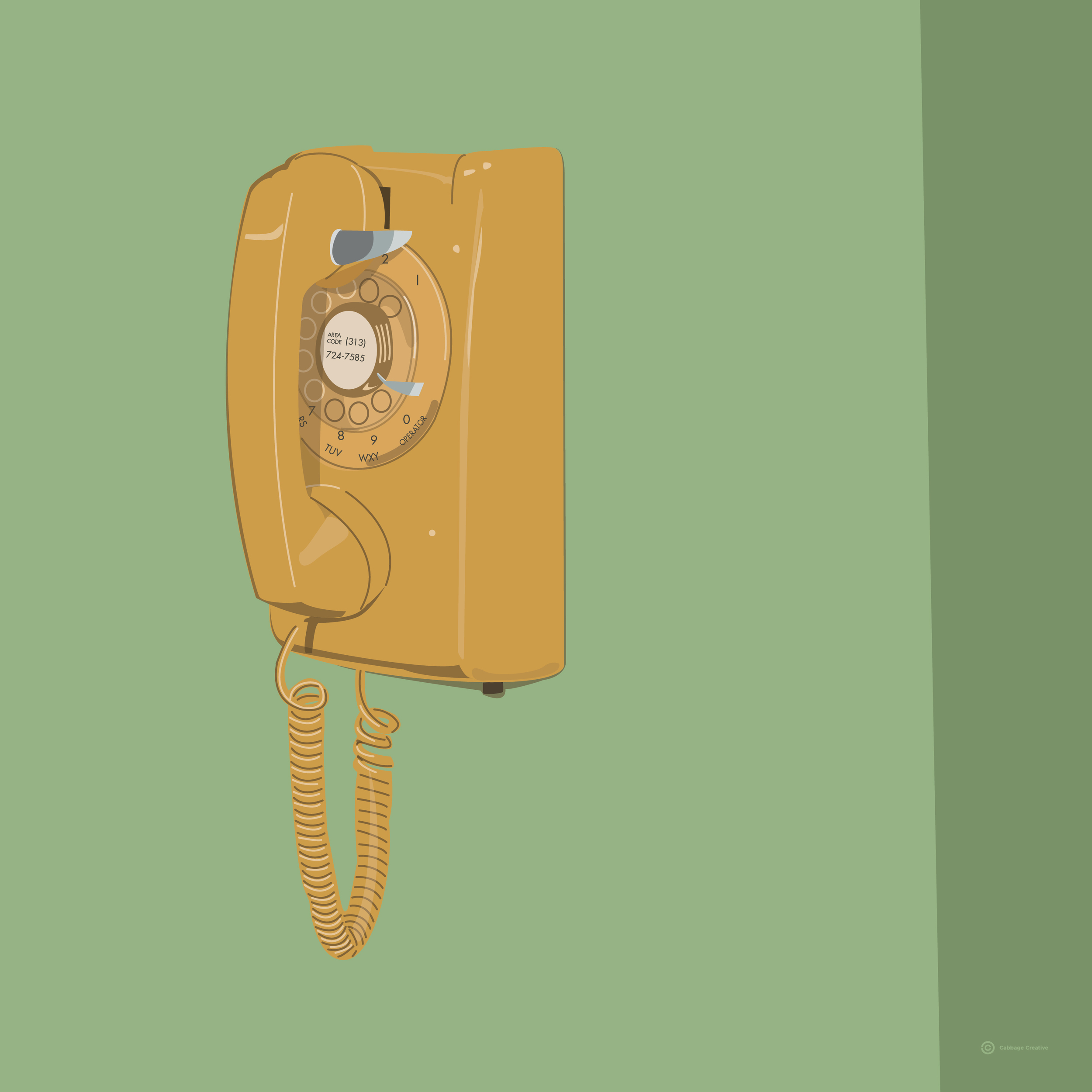 1983:  The phone from the kitchen of my childhood