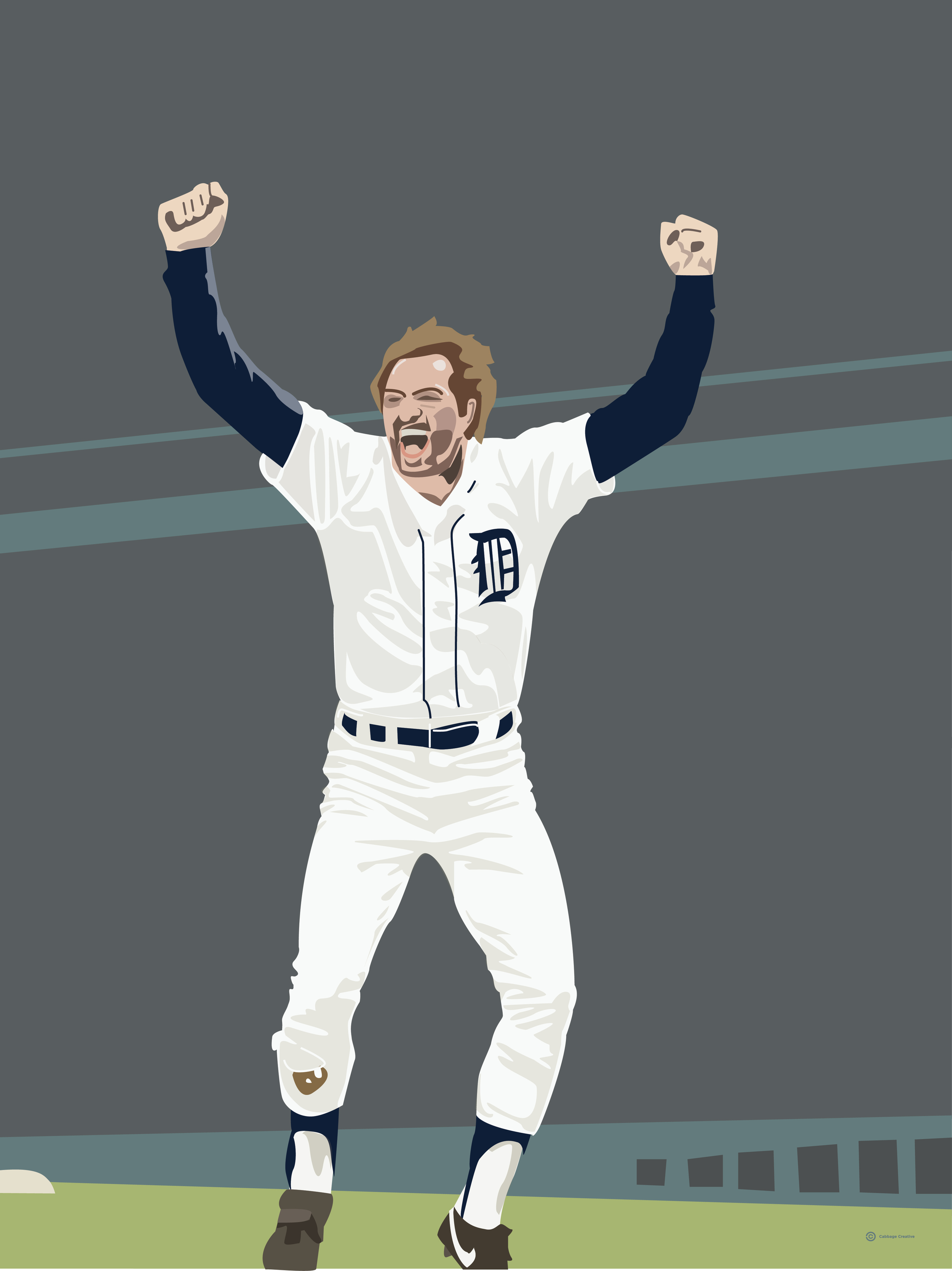 1984: Kirk Gibson of the World Champion Detroit Tigers (He don't want to walk you...)