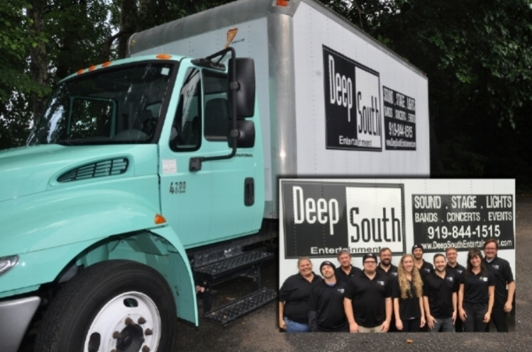 Deep South's lovely green production truck and wonderful production staff!