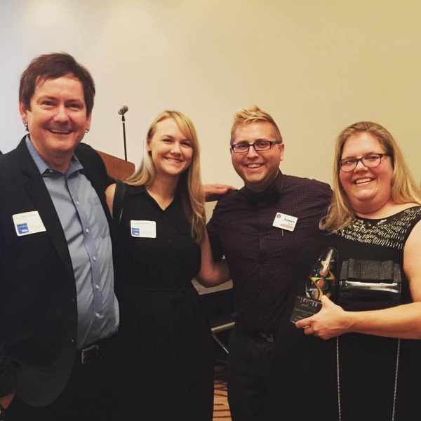 Pictured (L-R): Dave Rose, President, Deep South Entertainment; Melanie Rose; James Miller, Executive Director, LGBT Center of Raleigh; Amy Cox, Partner/Manager, Deep South Entertainment.