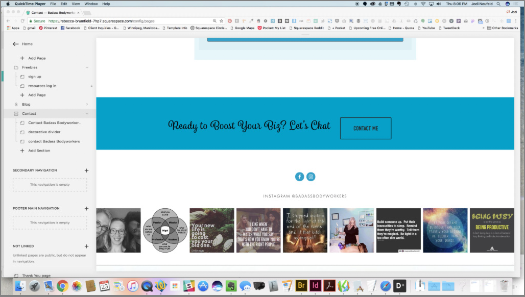 Updating the footer content