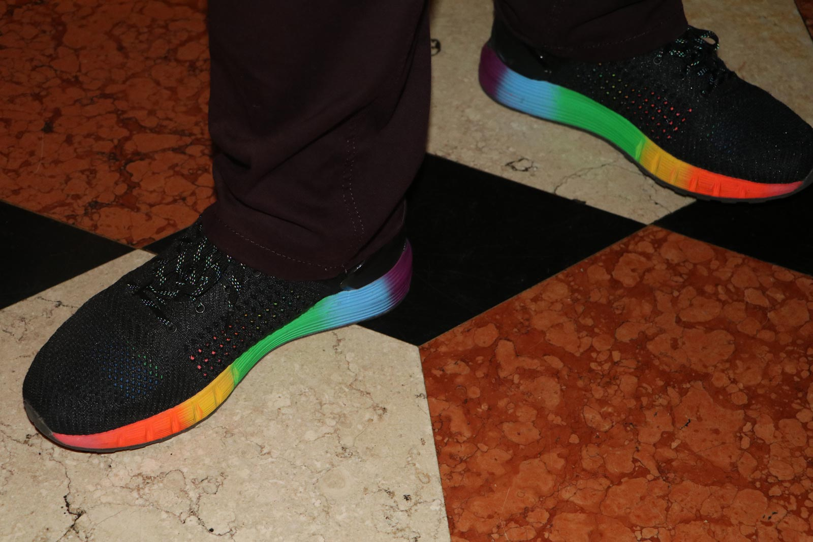 Hudson Taylor's Rainbow Shoes by Under Armor