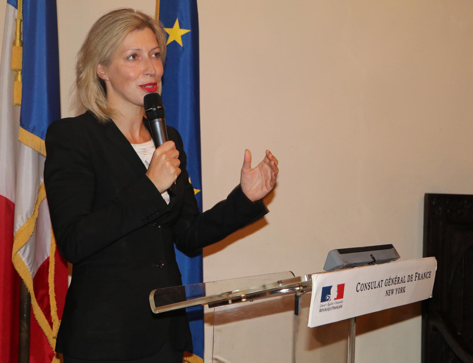 The Consul General of France Anne Claire Legendre