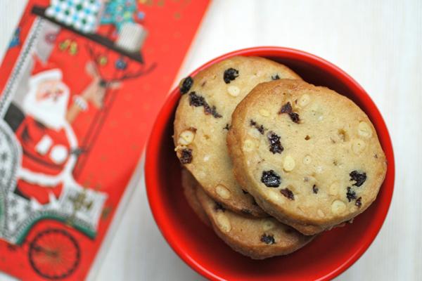 rum raisin shortbread cookies @talkoftomatoes