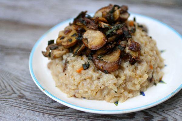 mushroom risotto @talkoftomatoes