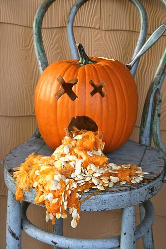 pumpkin puking