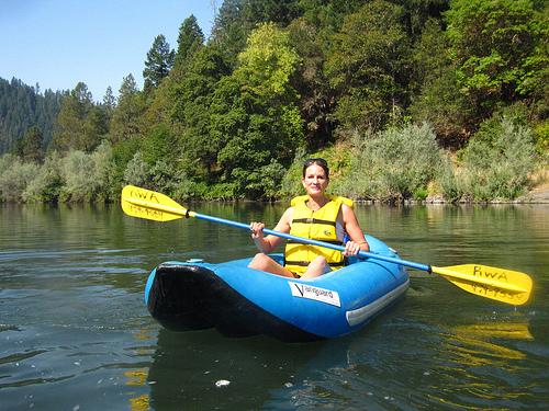 janelle in kayak