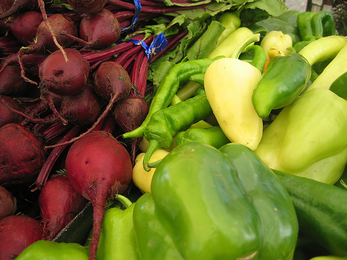 beets and peppers